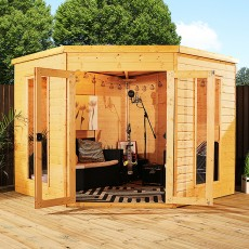 8 x 8 (2.45m x 2.45m) Mercia Corner Summerhouse