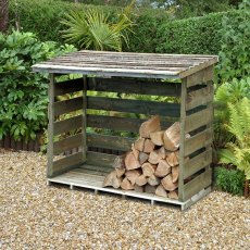 6 x 3 ( 880mm x 1830mm) Forest Log Store - Large