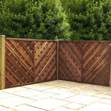 4ft High (1200mm) Mercia Louth Pressure Treated Fence Panels