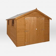 12 x 8 Mercia Premium Shiplap Shed with Double Doors - Pressure Treated - no background with doors c