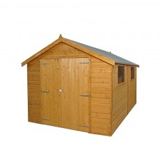 Mercia 12 x 8 (3.80m x 2.62m) Mercia Premium Shiplap Shed with Double Doors - Pressure Treated