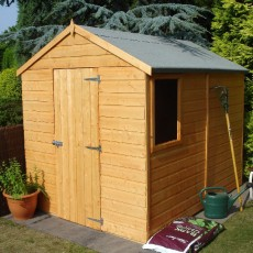 8 x 6 (2.38m x 1.79m) Shire Shiplap Apex Shed (Single Door)