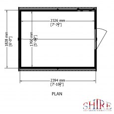 8x6 shire shiplap shed plan