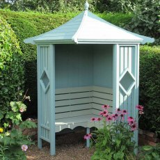 Shire Heritage Corner Arbour - painted blue