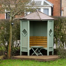 Shire Heritage Corner Arbour - painted green