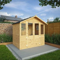 7 x 5 (2.30m x 1.70m) Mercia Shiplap Traditional Summerhouse