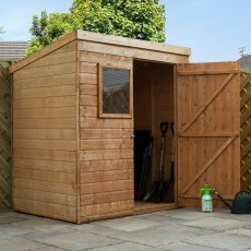 4 x 6 (1.22m x 1.81m) Mercia Shiplap Pent Shed with Single Door