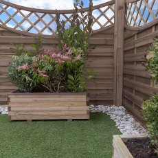5ft High Mercia Norton Pressure Treated Fence Panels with Integrated Trellis