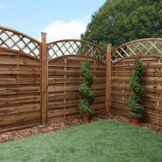 6ft High (1800mm) Mercia Newark Pressure Treated Fence Panels with Integrated Trellis