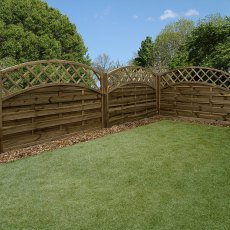 4ft High (1200mm) Mercia Newark Pressure Treated Fence Panels with Integrated Trellis