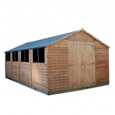 20 x 10 (6.03m x 3.09m) Mercia Modular Overlap Workshop Shed
