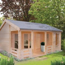 18G x 20 (5.49m x 5.95m) Shire Sherwood Log Cabin (44mm to 70mm Logs)