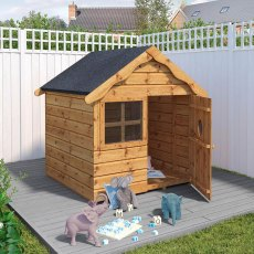 4 x 4 (1.40m x 1.30m) Mercia Snug Playhouse