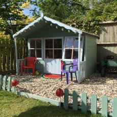 6 x 6 (1.79m x 1.68m) Shire Pixie Playhouse