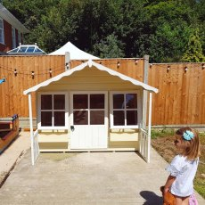 Shire Pixie Playhouse with little girl