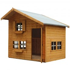 8 x 6 (2.4m x 1.8m) Mercia Two Storey Playhouse Isolated