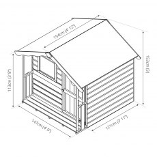5 x 5 (1.60m x 1.1m) Mercia Tulip Playhouse Plan
