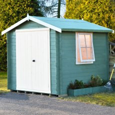 7G x 7 (2.09m x 2.09m) Shire Bradley Log Cabin (19mm Logs)