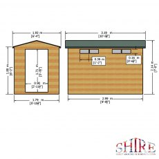 Shire Security Professional Shed - Dimensions
