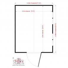 Shire Security Professional Shed - Floor plan