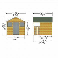 Shire 6 x 4 (1.79m x 1.19m) Shire Hobby Playhouse
