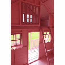 Shire Lodge Two Storey Playhouse - Interior showing stairs and bunk area