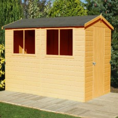 10 x 8 (2.99m x 2.39m) Shire Atlas Professional Apex Shed