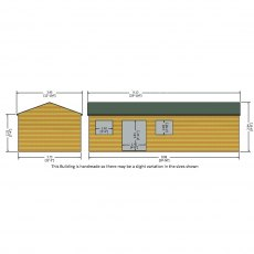 Shire Mammoth Professional Apex Shed - dimensions