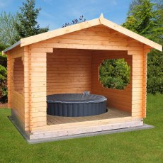 11G x 11 (3.25m x 3.25m) Shire Bere Log Cabin (28mm Logs)