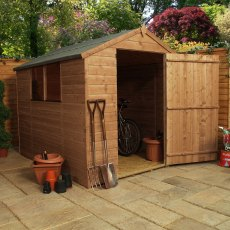 8 x 6 (2.41m x 1.90m) Mercia Shiplap Shed with Large Single Door - Pressure Treated