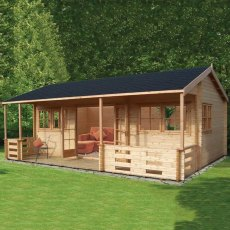 18G x 20ft (5.39m x 5.90m) Shire Kingswood Log Cabin (44mm to 70mm Logs)