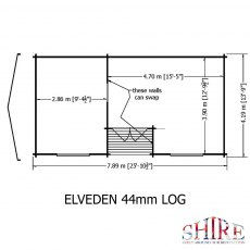26 x 14 Shire Elveden Log Cabin - Base plan