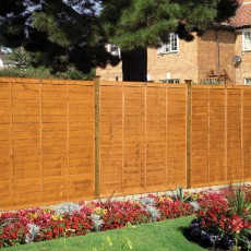 4ft High (1200mm) Grange Professional Lap Fencing Packs - Golden Brown