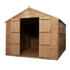Mercia 10 x 8 (3.02m x 2.48m) Mercia Shiplap Shed with Double Doors