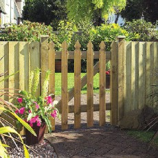 3ft High (900mm) Grange Elite Palisade Gate - Pressure Treated