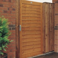 6ft High (1820mm) Grange Lap Gate - Golden Brown