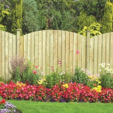 6ft High (1800mm) Grange Professional Pressure Treated Dome Feather Edge Fencing Pack