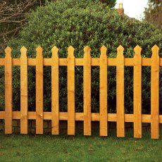 3ft High (900mm) Grange Tulip Palisade Fencing Packs - Golden Brown