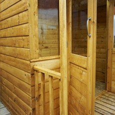 Mercia 7 x 8 (2.30m x 2.70m) Mercia Shiplap Traditional Summerhouse with Veranda