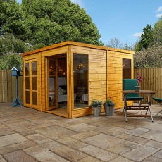 10 x 10 (3.10m x 3.10m) Mercia Pool House Summerhouse