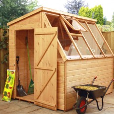 8 x 6 (2.51m x 1.90m) Mercia Shiplap Potting Shed