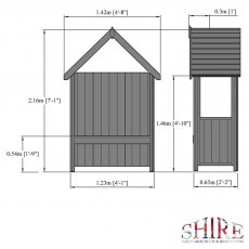 Shire Hebe Arbour - dimensions