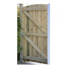 Grange 6ft High (1800mm) Grange Arched Feather Edged Gate - Pressure Treated