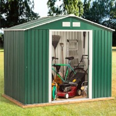 8 x 6 (2.55m x 1.73m) Emerald Rosedale Metal Shed (Green)