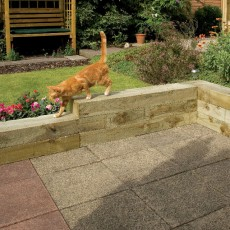 8ft (2.4m) Long Grange Sawn New Railway Sleepers (Pack of 4)