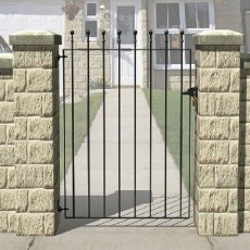3 x 3 (900mm x 810mm) Metpost Wenlock Ball Top Single Gate - Wide