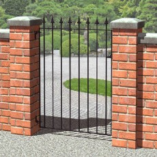 3 x 3 (935mm x 810mm) Metpost Montford Spear Top Single Gate