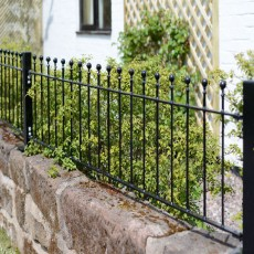 1ft6 inch High (450mm) Metpost Wenlock Ball Top Metal Railings