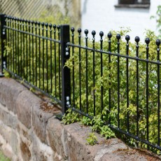 Grange 1ft6 inch High (450mm) Metpost Wenlock Ball Top Metal Railings