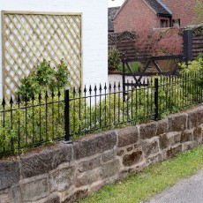 2ft High (485mm) Metpost Montford Spear Top Metal Railings